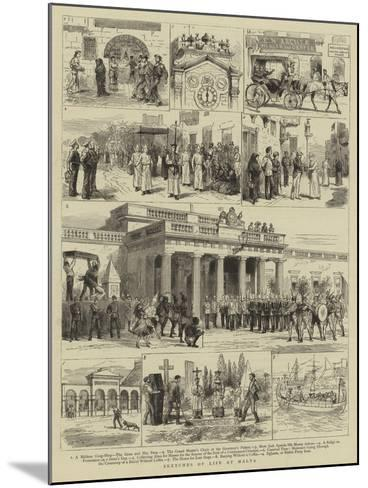 Sketches of Life at Malta--Mounted Giclee Print