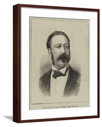 The Late Mr Lionel Lawson--Framed Art Print