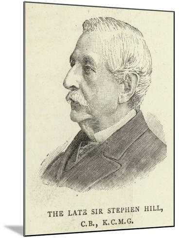 The Late Sir Stephen Hill--Mounted Giclee Print