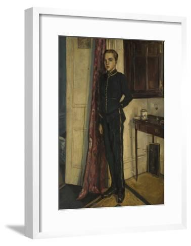 Youth in Soldier's Uniform--Framed Art Print