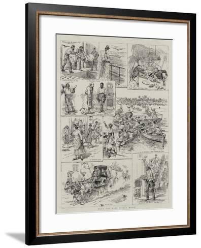 With the West Indian Mails--Framed Art Print