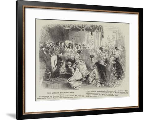 The Queen's Drawing Room--Framed Art Print