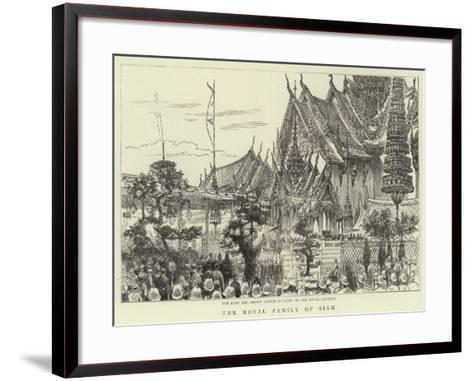 The Royal Family of Siam--Framed Art Print