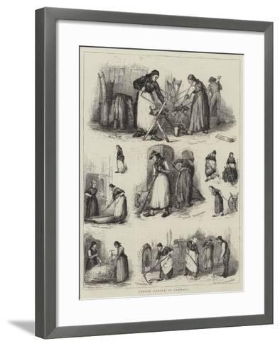 Female Labour in Germany--Framed Art Print