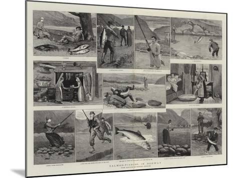 Salmon-Fishing in Norway--Mounted Giclee Print