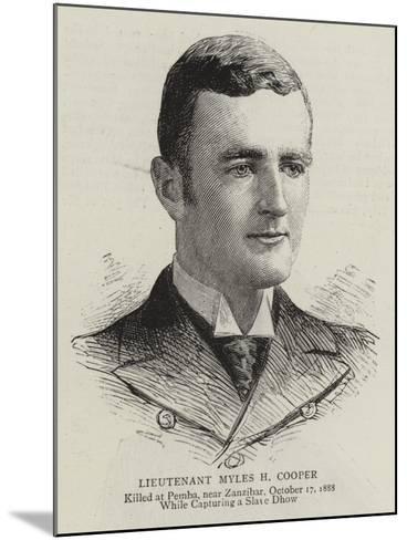 Lieutenant Myles H Cooper--Mounted Giclee Print