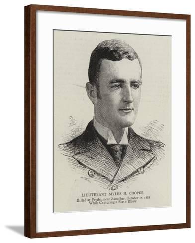 Lieutenant Myles H Cooper--Framed Art Print
