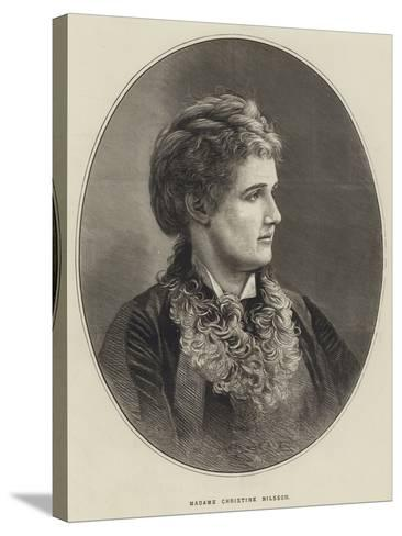 Madame Christine Nilsson--Stretched Canvas Print