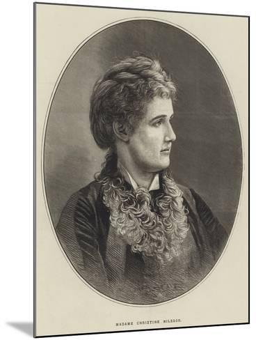 Madame Christine Nilsson--Mounted Giclee Print