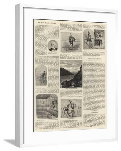 The Late Chevalier Blondin--Framed Art Print