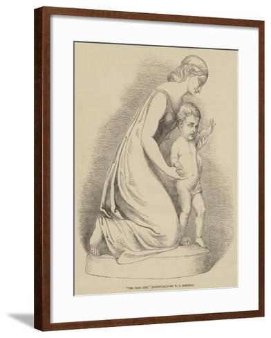 The First Step, Sculpture--Framed Art Print