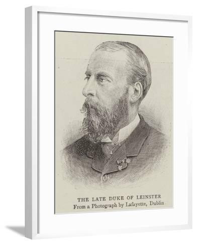 The Late Duke of Leinster--Framed Art Print