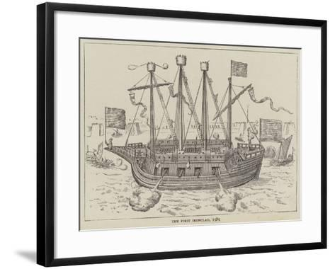 The First Ironclad, 1585--Framed Art Print