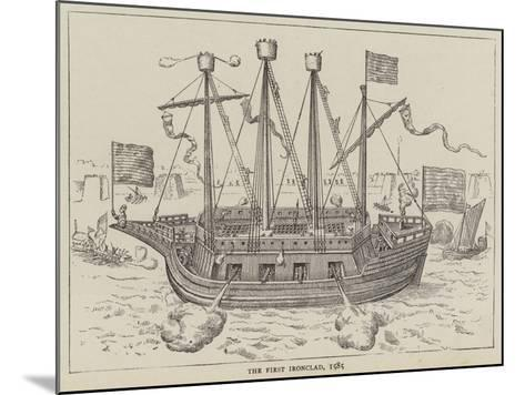 The First Ironclad, 1585--Mounted Giclee Print