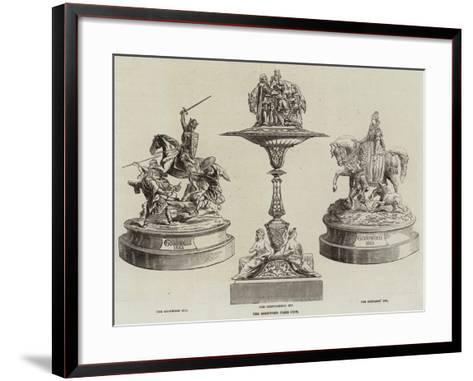 The Goodwood Prize Cups--Framed Art Print