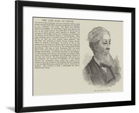 The Late Earl of Devon--Framed Art Print
