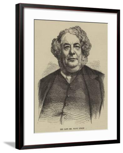The Late Mr Mark Lemon--Framed Art Print