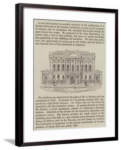 The London Institution--Framed Art Print