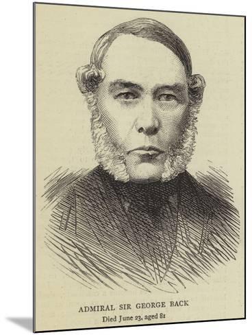 Admiral Sir George Back--Mounted Giclee Print