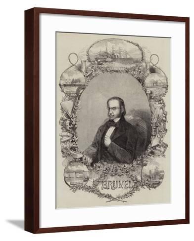 Isambard Kingdom Brunel--Framed Art Print