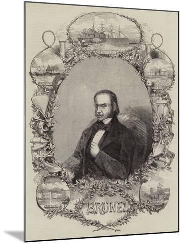 Isambard Kingdom Brunel--Mounted Giclee Print