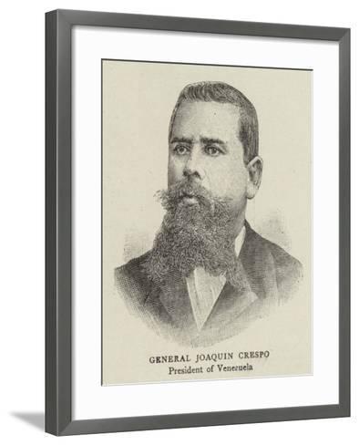 General Joaquin Crespo--Framed Art Print