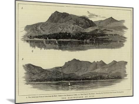 The Earthquake at Scio--Mounted Giclee Print