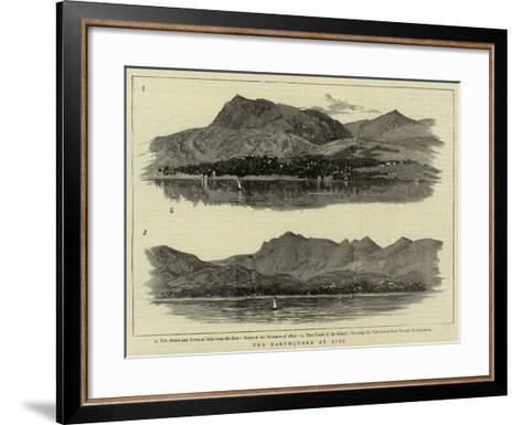 The Earthquake at Scio--Framed Art Print