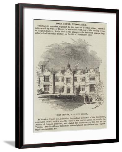 Ford House, Devonshire--Framed Art Print