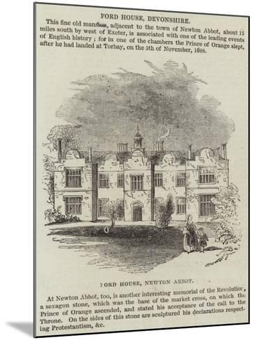 Ford House, Devonshire--Mounted Giclee Print