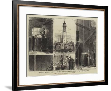 The Manufacture of Shot--Framed Art Print