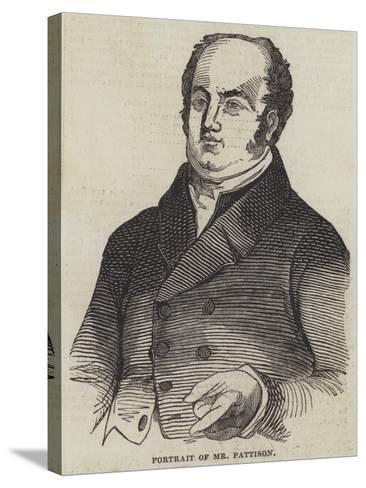 Portrait of Mr Pattison--Stretched Canvas Print