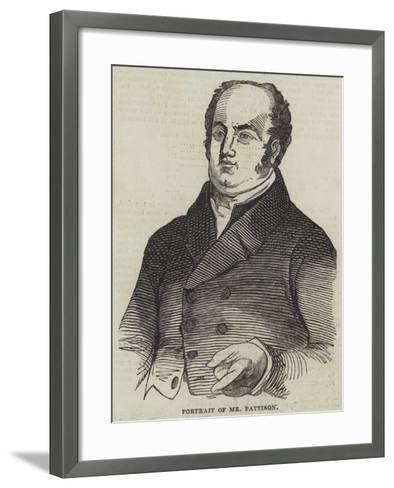 Portrait of Mr Pattison--Framed Art Print
