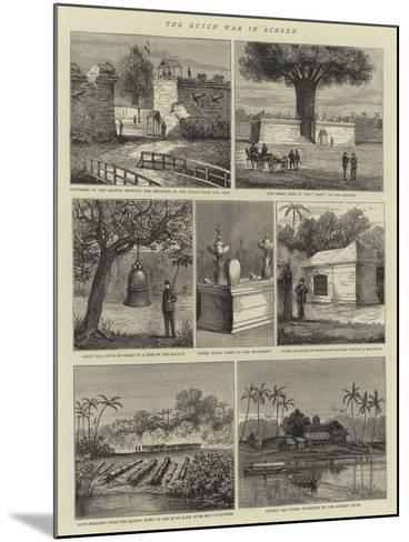The Dutch War in Acheen--Mounted Giclee Print
