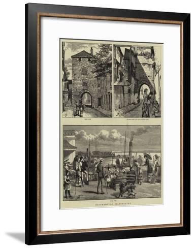 Southampton Illustrated--Framed Art Print
