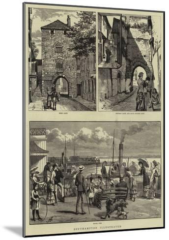 Southampton Illustrated--Mounted Giclee Print
