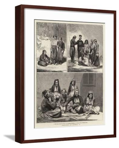 Sketches at Cyprus, II--Framed Art Print