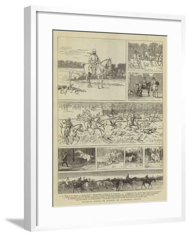 Hunting Notes in France--Framed Art Print
