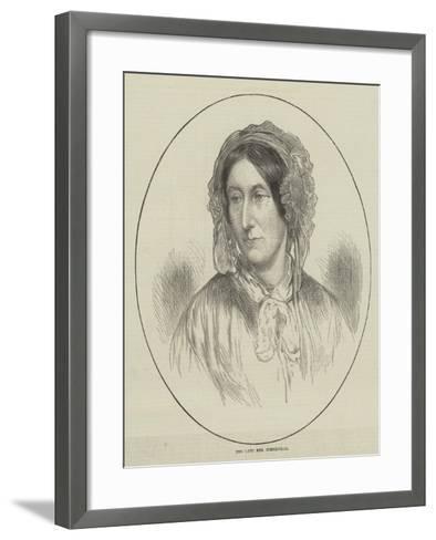 The Late Mrs Somerville--Framed Art Print