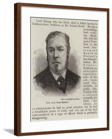 The Late Lord Basing--Framed Art Print