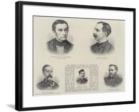 Plymouth Dignitaries--Framed Art Print