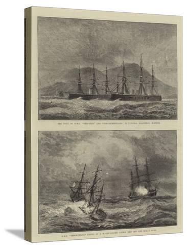 Sketches of Warships--Stretched Canvas Print