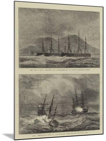 Sketches of Warships--Mounted Giclee Print