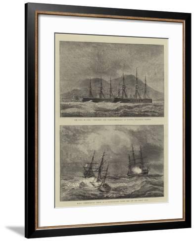 Sketches of Warships--Framed Art Print