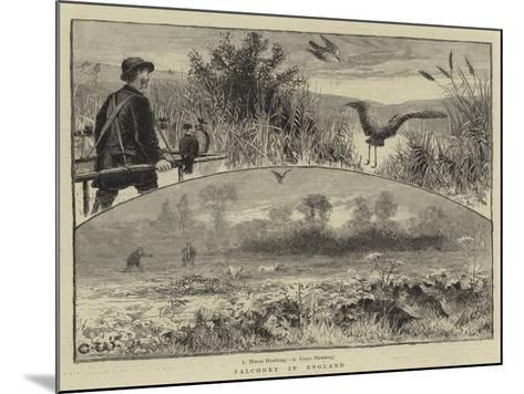 Falconry in England--Mounted Giclee Print