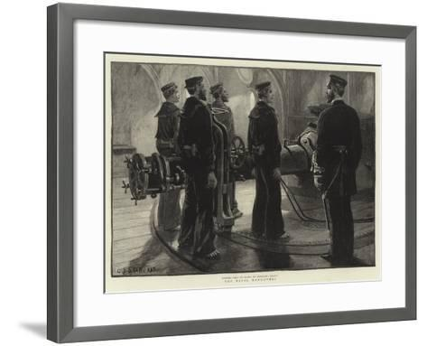 The Naval Manoeuvres--Framed Art Print