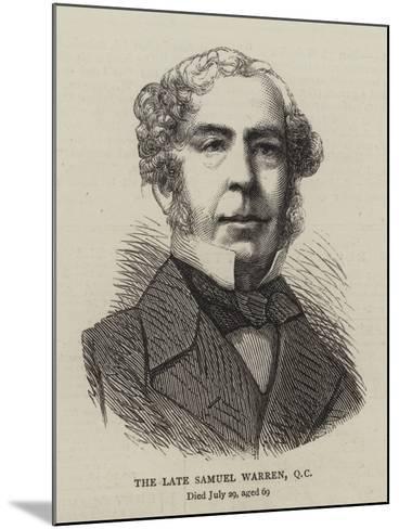 The Late Samuel Warren--Mounted Giclee Print