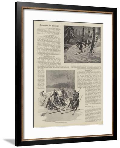 Snowshoes in Warfare--Framed Art Print