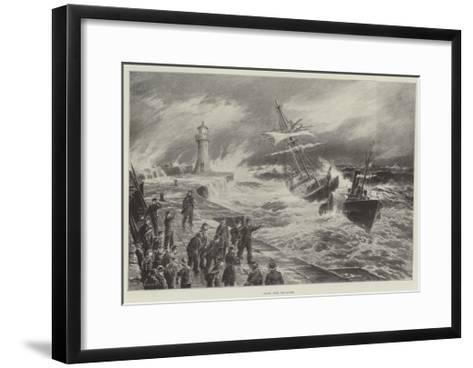 Saved from the Storm--Framed Art Print
