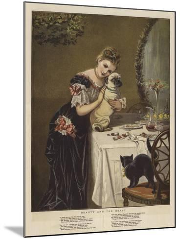 Beauty and the Beast--Mounted Giclee Print